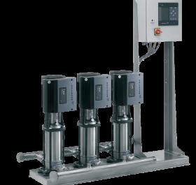 Triplex pressure booster pump system
